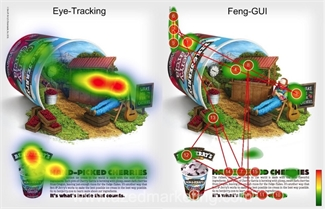 Ben& Jerrys eye-tracking comparison
